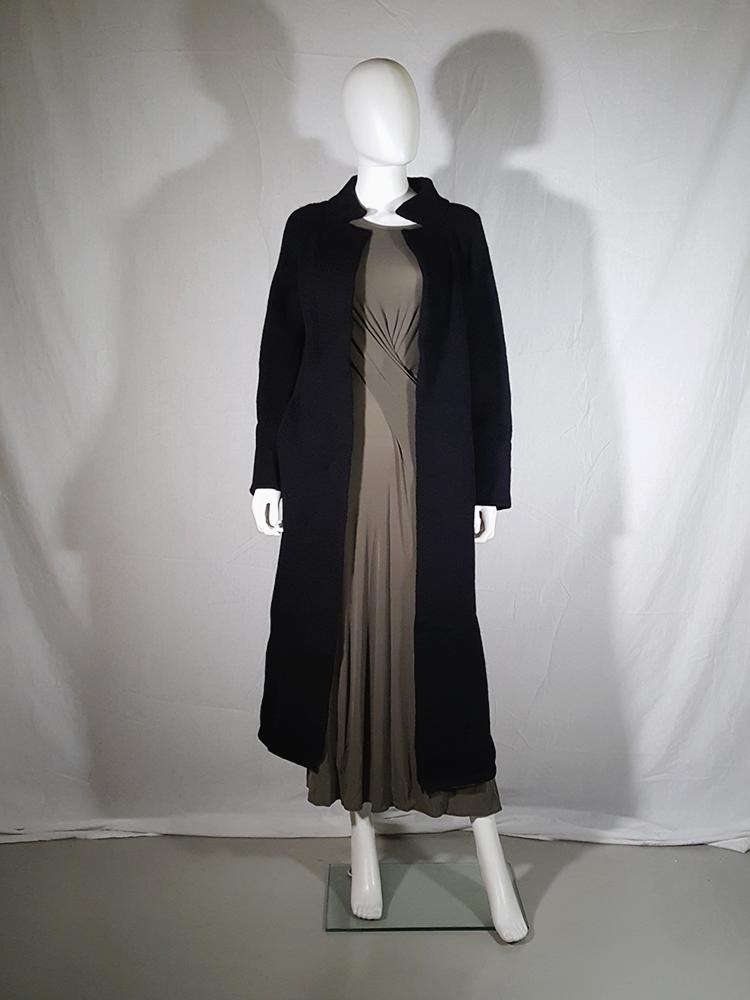 vintage Ys Yohji Yamamoto black maxi length cardigan 185656