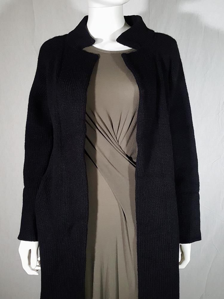 vintage Ys Yohji Yamamoto black maxi length cardigan 185742