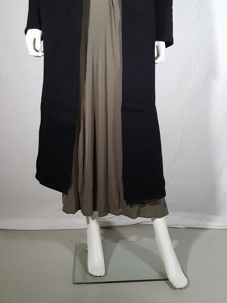 vintage Ys Yohji Yamamoto black maxi length cardigan 185809