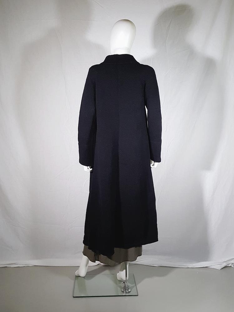 vintage Ys Yohji Yamamoto black maxi length cardigan 185847