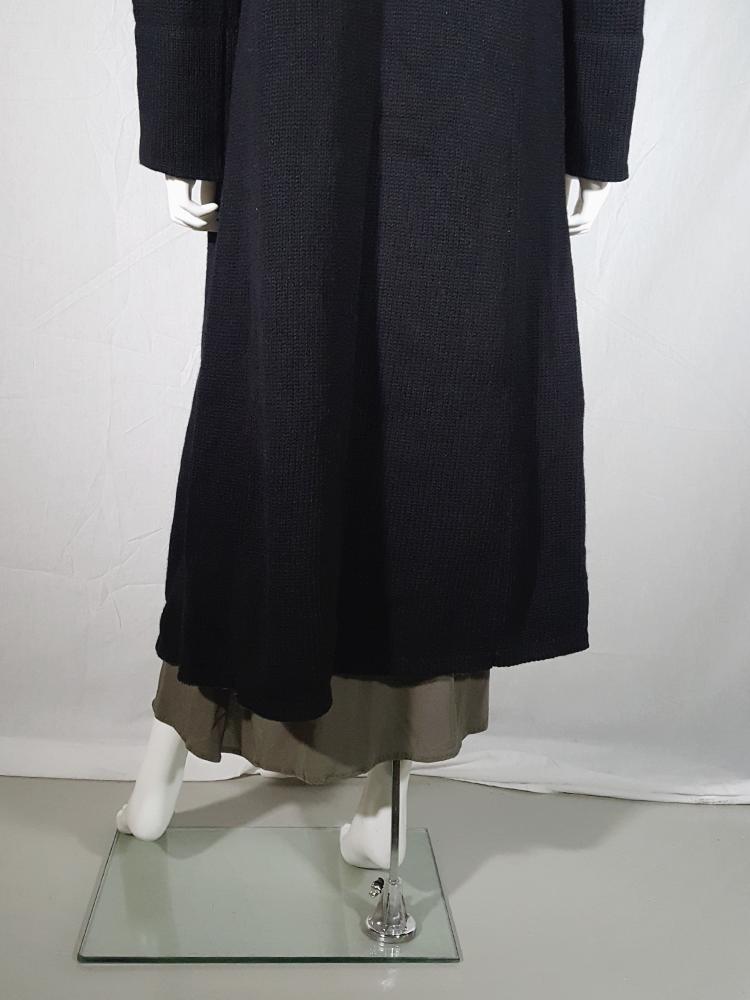 vintage Ys Yohji Yamamoto black maxi length cardigan 185929