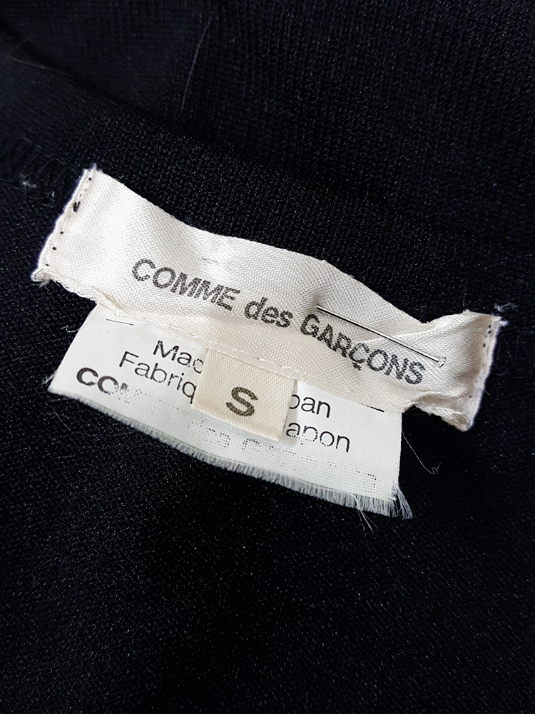vintage Comme des Garcons black gathered top with ruffle detail fall 2011 191952