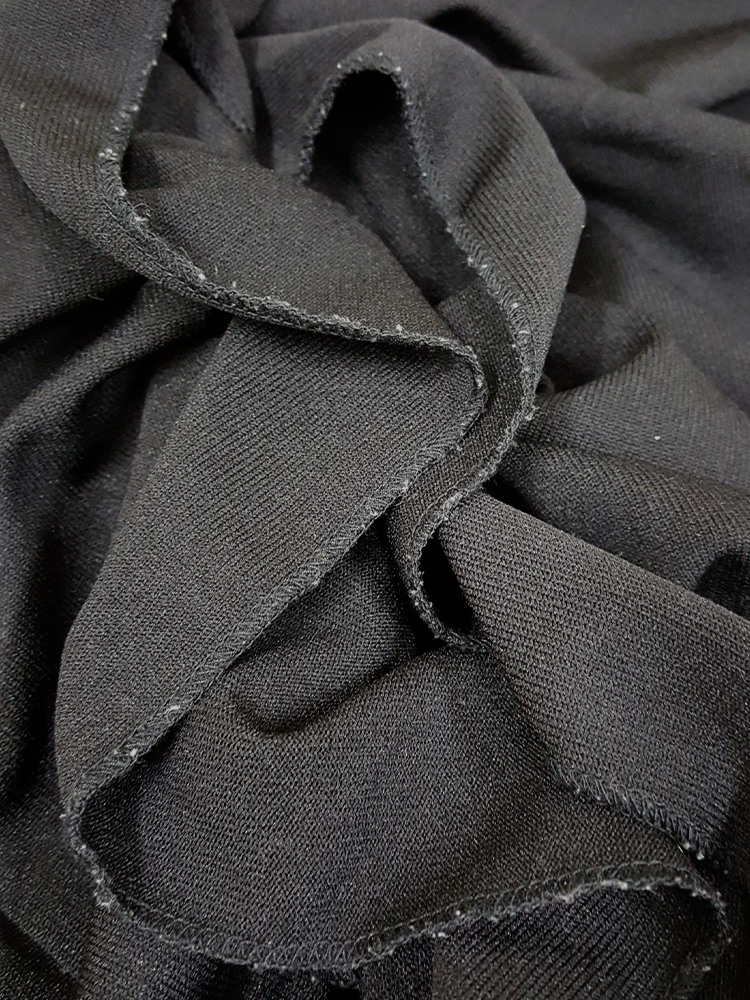 vintage Comme des Garcons black gathered top with ruffle detail fall 2011 192045