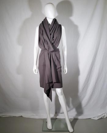 Haider Ackermann brown draped dress or skirt — fall 2009