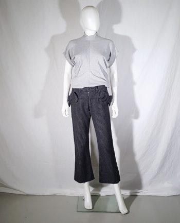 Junya Watanabe grey bowtie trousers — fall 2003