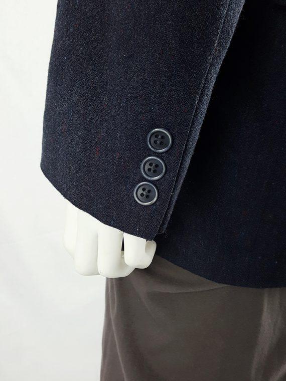 vintage Maison Martin Margiela grey felt backwards blazer fall 1994 200540