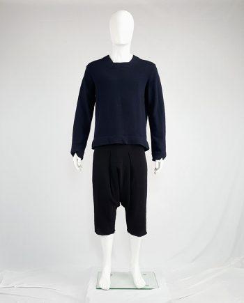 Comme des Garçons Shirt blue jumper with square neckline