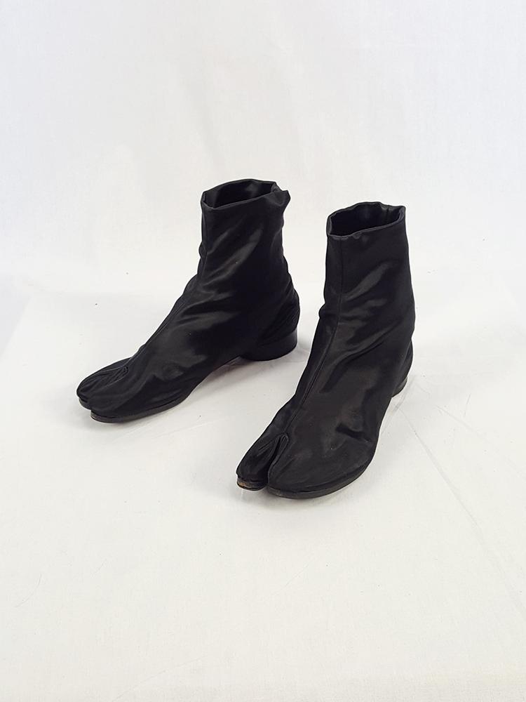 c1544ac8d7b Maison Martin Margiela black satin tabi boots with low heel (37) — fall 1998