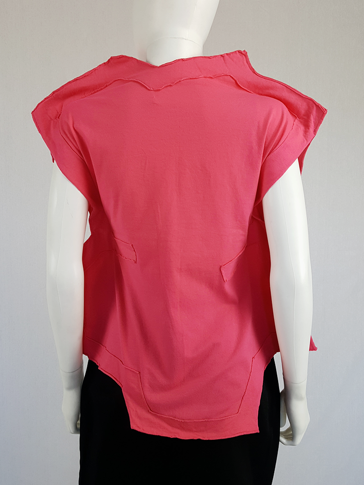 Comme des Garçons pink two-dimensional paperdoll top — fall 2012