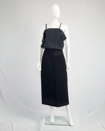 Comme des Garçons black paneled maxi skirt — fall 1997