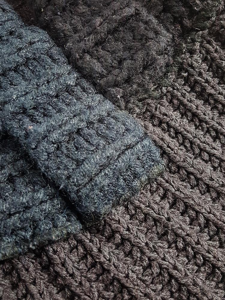 Maison Martin Margiela artisanal black jumper made of scarves and jumpers