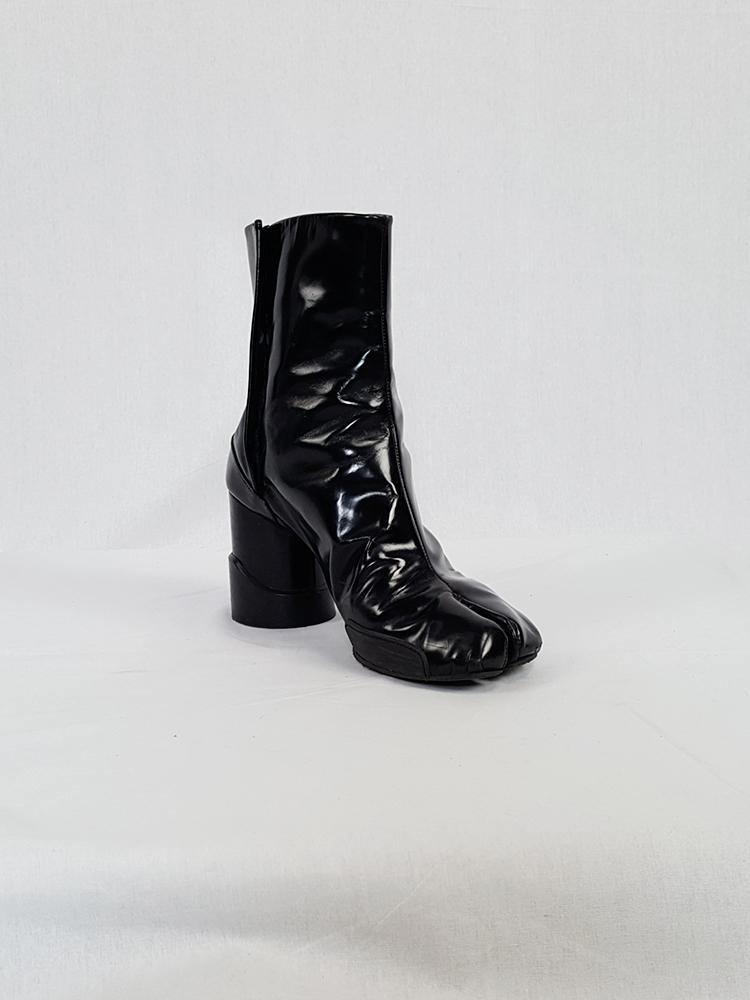 eaaf63ae320 Maison Martin Margiela black patent techno tabi boots (40) — fall ...