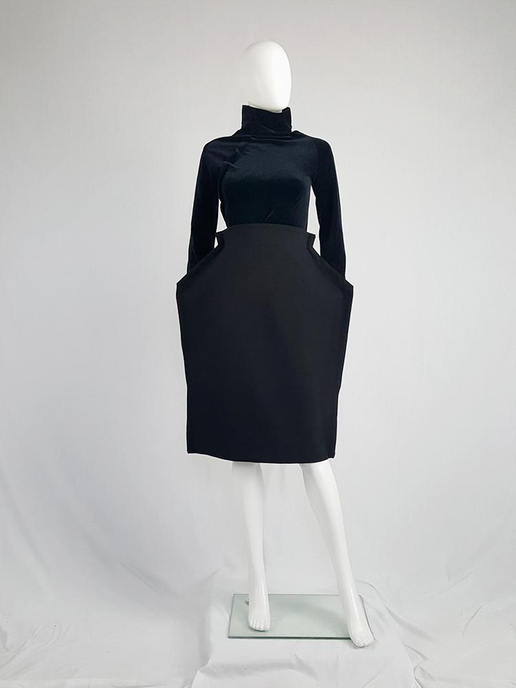 79900685442f Comme des Garçons black 2D paperdoll skirt — fall 2012