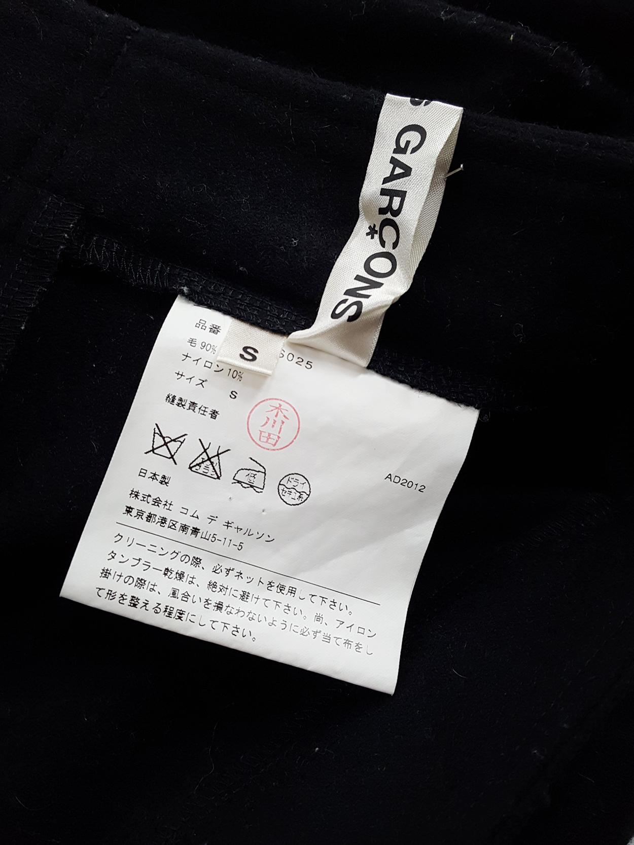 vintage Comme des Garcons black 2D circle skirt fall 2012 131351