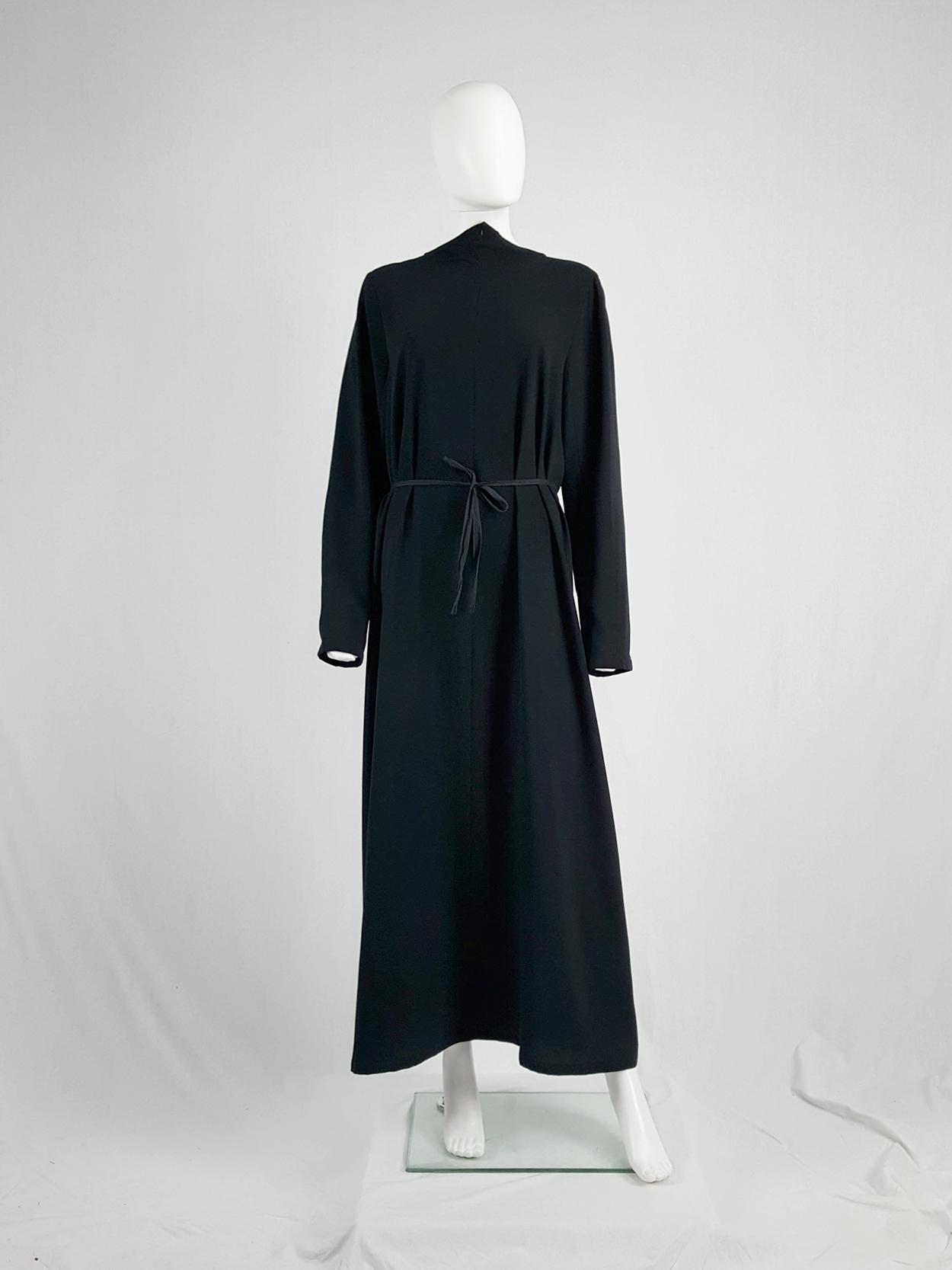 8536defb83 Maison Martin Margiela black backwards maxi dress — spring 1999 ...