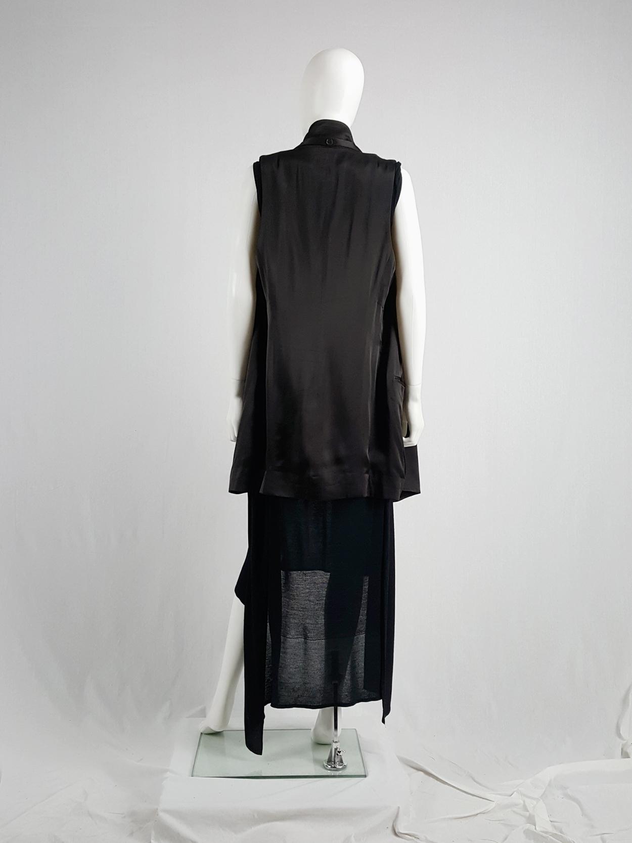 Ann Demeulemeester eggplant oversized waistcoat with tassels — spring 2012
