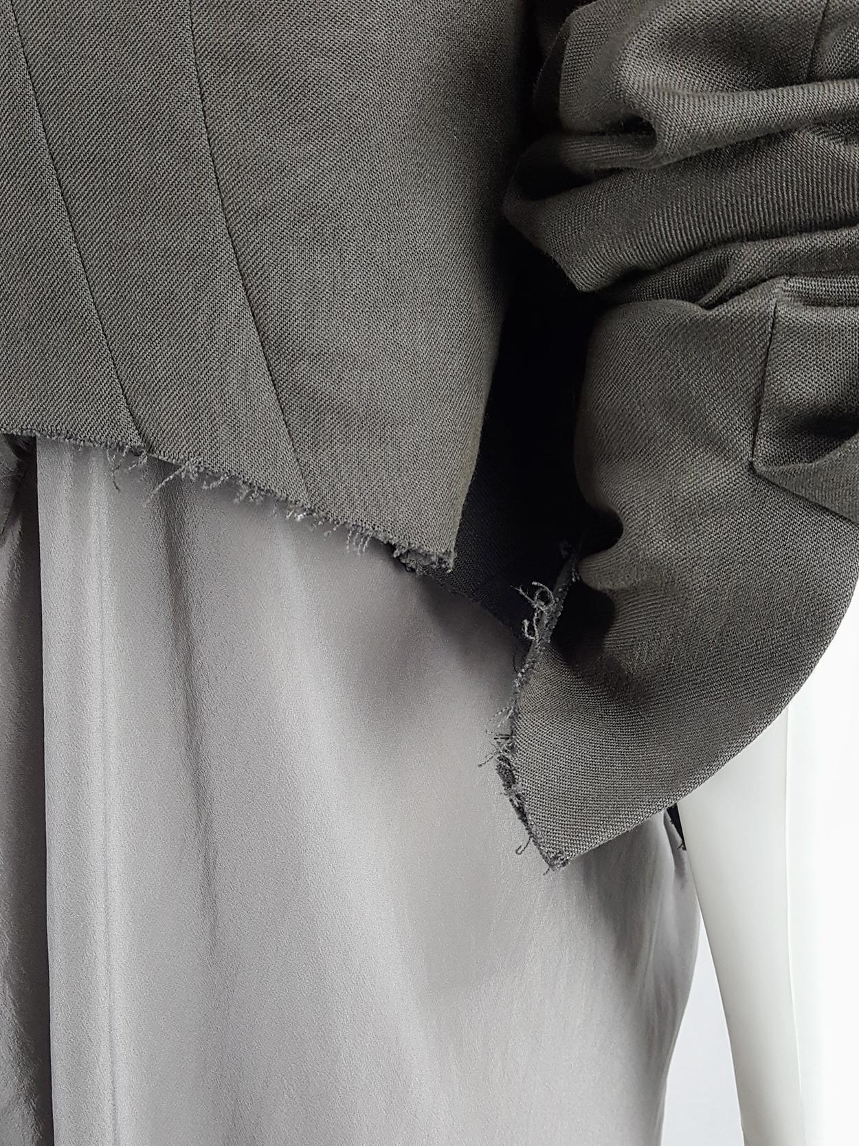 Haider Ackermann brown blazer with beaded military detail — fall 2009