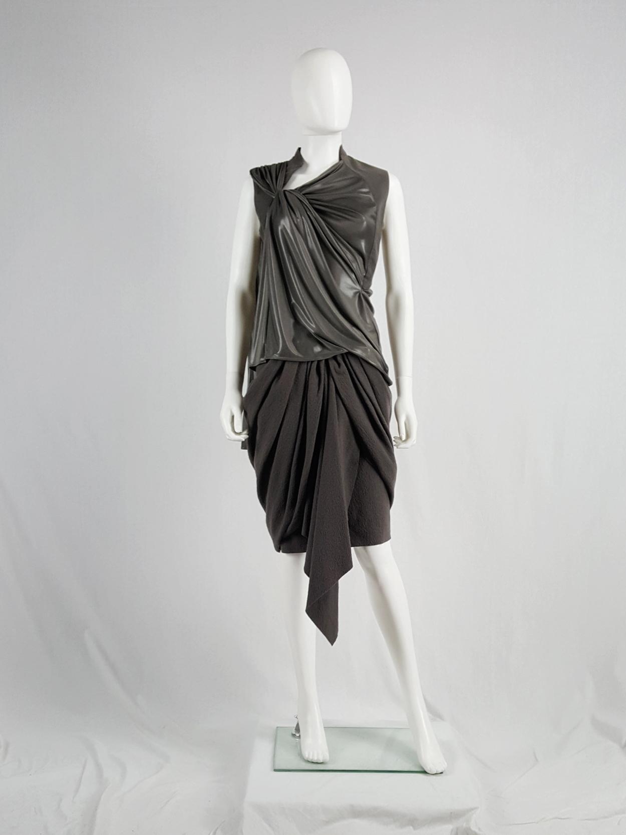 A.F. Vandevorst bronze draped top with open back — spring 2011