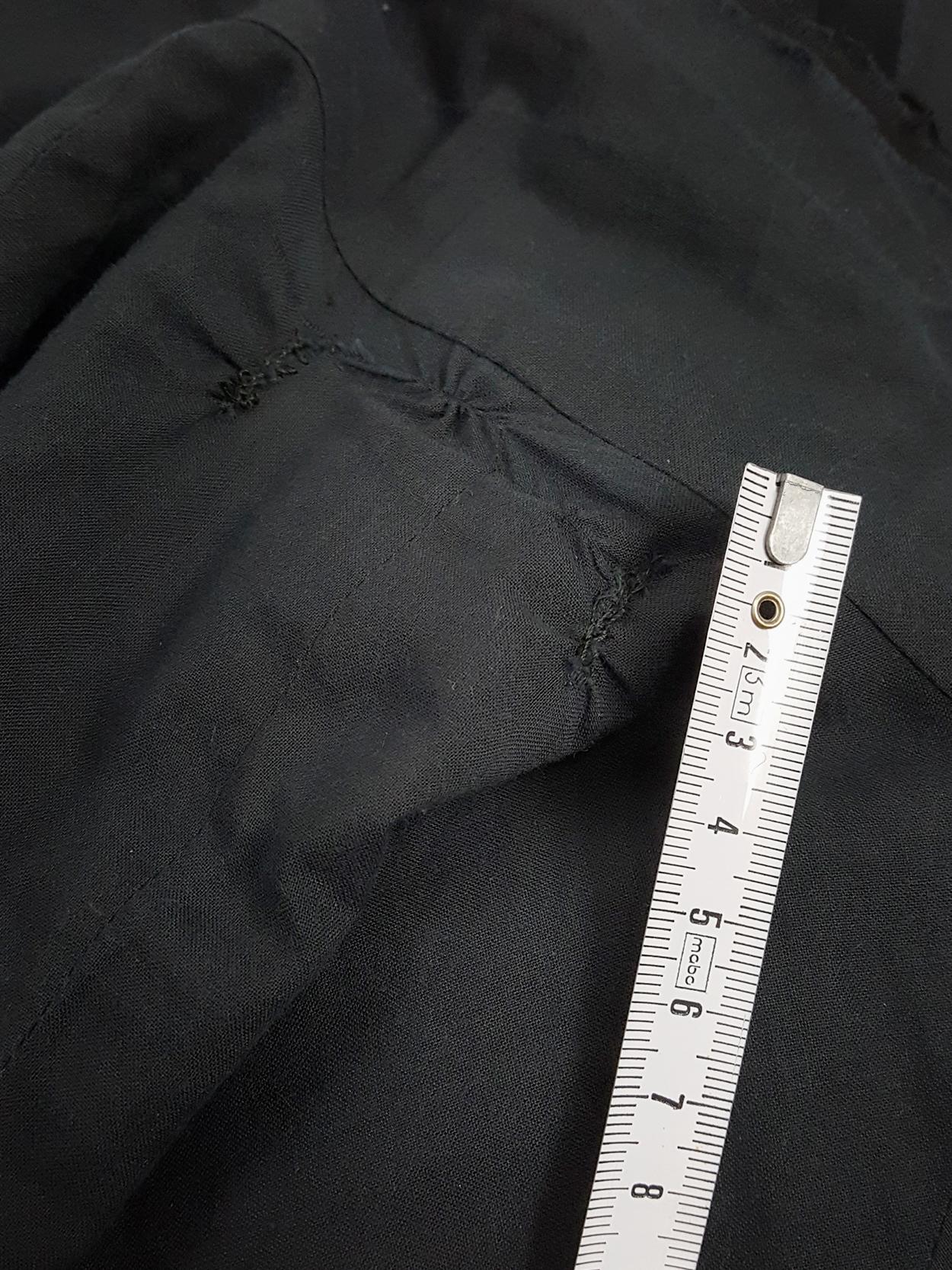 Comme des Garçons blue triple-layered blazer with cutaway hem — AD 1997