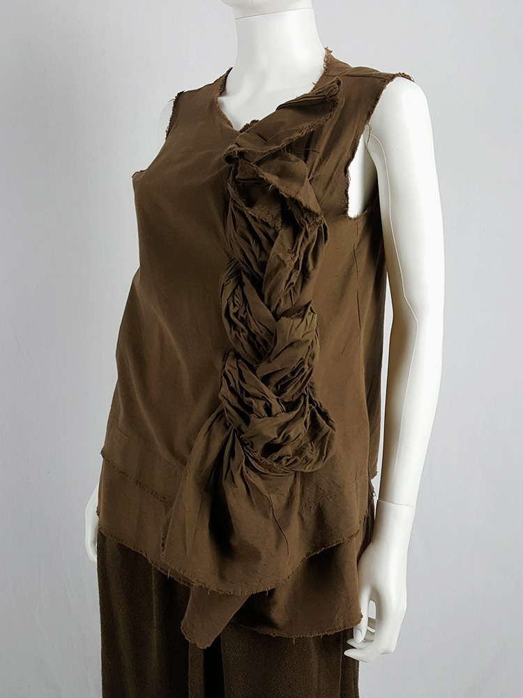 Comme des Garçons brown top with oversized braid