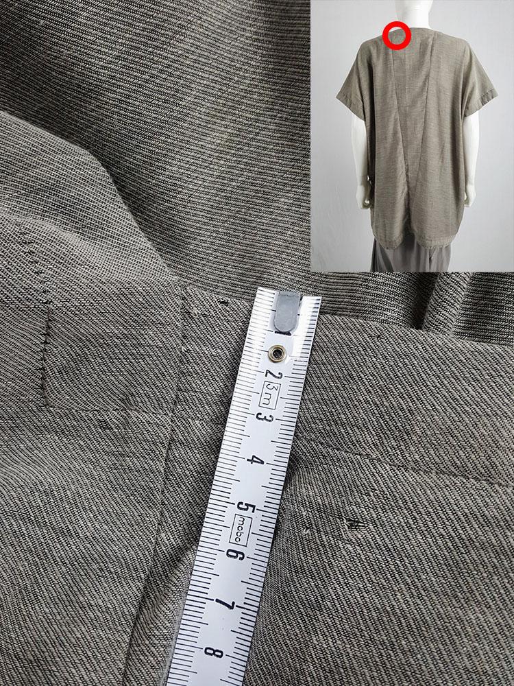 Jan-jan Van Essche beige oversized tunic with square neckline
