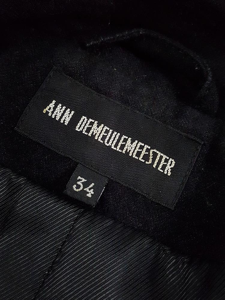 Ann Demeulemeester black biker jacket with zip-off panels — fall 2011