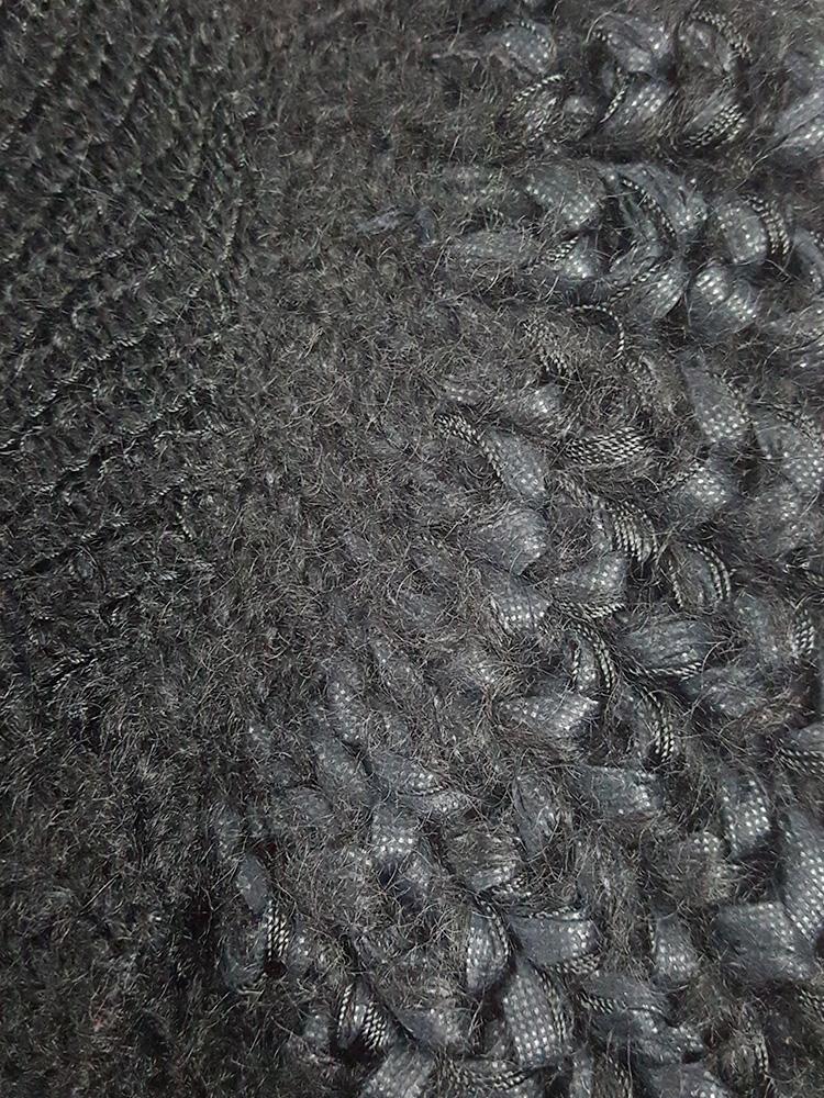 Noir Kei Ninomiya black knit top with large rounded sleeves — fall 2013