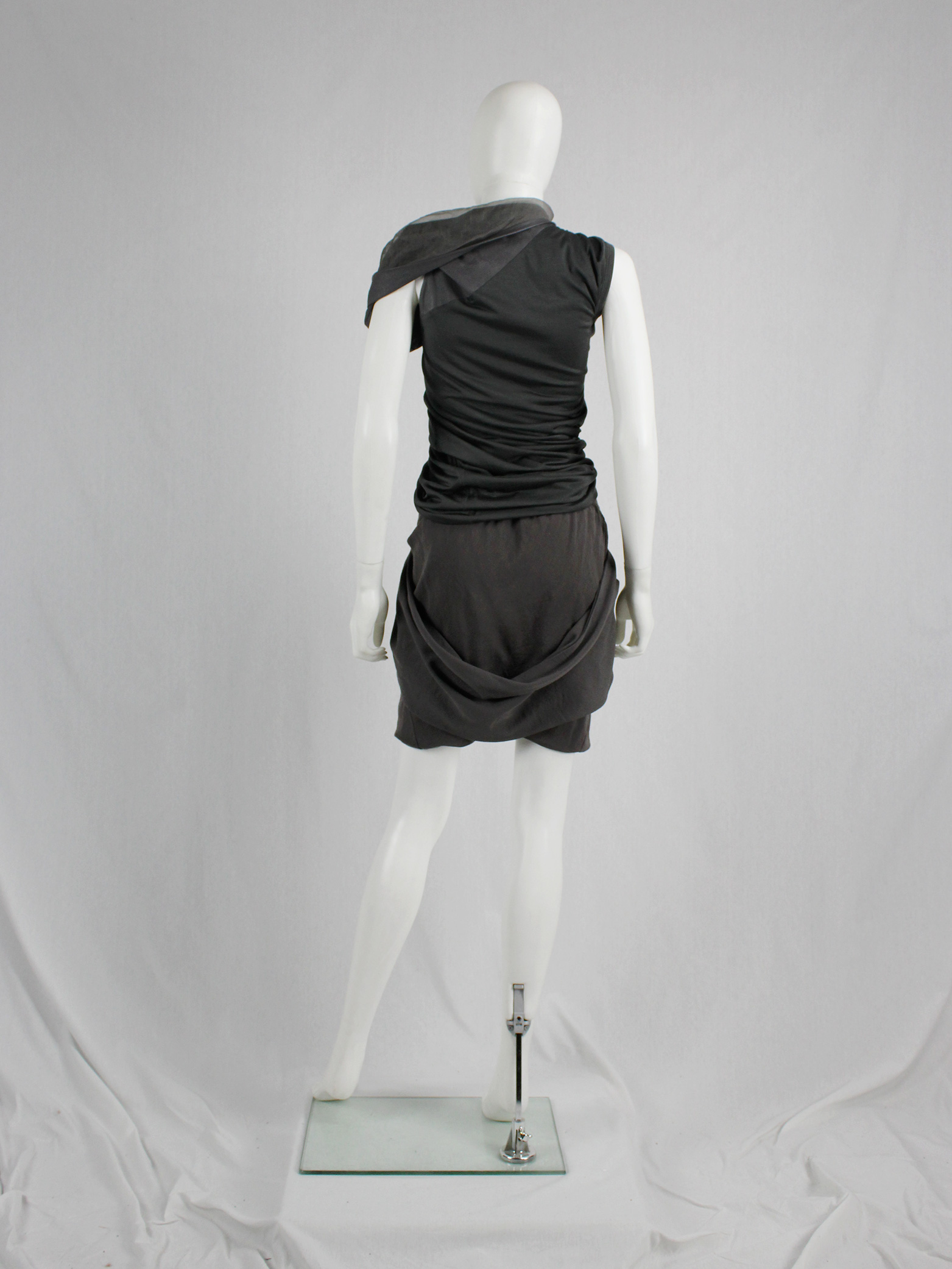 Rick Owens Gleam Brown Shorts With Front Pleating And Back Drape Fall 2010 V A N Ii T A S