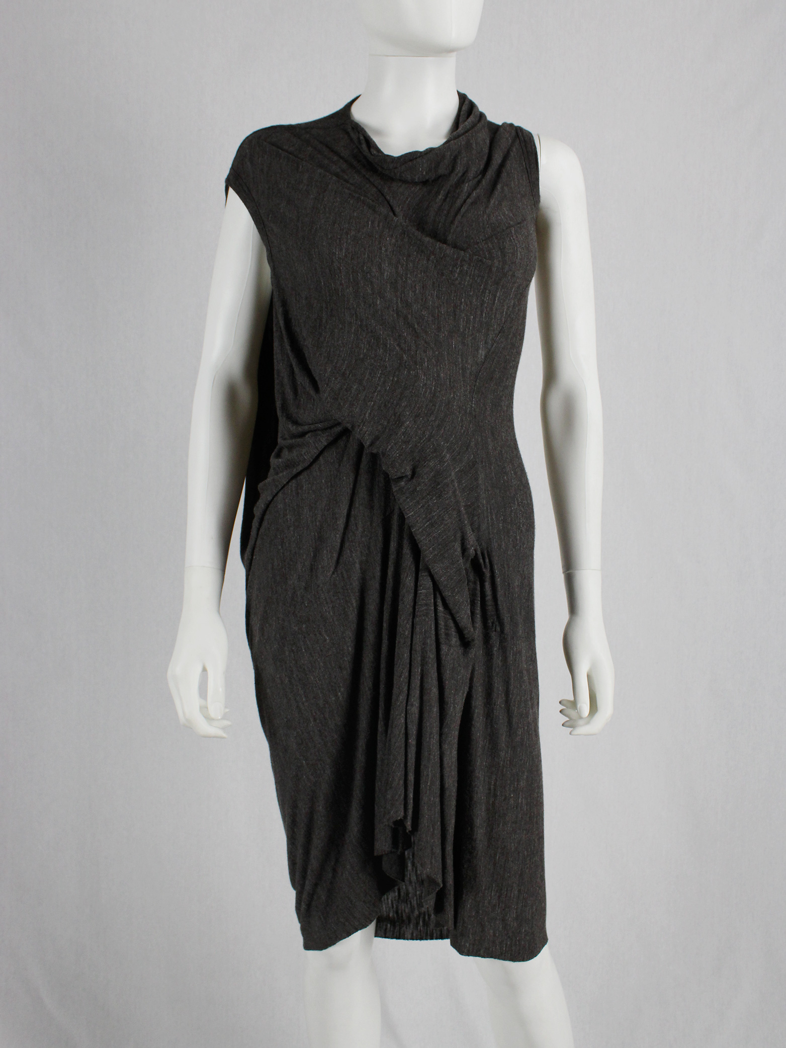 Rick Owens lilies brown draped tornado dress